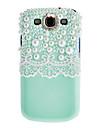 삼성 갤럭시 S3 i9300를위한 수제 케이스에 화이트 레이스와 블링 진주 보호 덮개