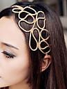 z;x® cheveux tressés creux avec bande de cheveux d'or