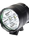 3 режимный светодиодный велосипедный фонарик 5xCree XM-L T6 (6000LM, 4x18650, черный)