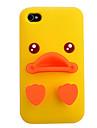 Yellow Duck Silicone para iPhone 4/4S (cores sortidas)
