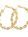 Gold Plated bronze Circle hoop Earrings ER0465