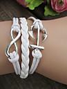 Anchor Retro 8-Word Bracelet com Nó