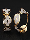 U7® 18K Real Gold Plated New Flower Hoop Earrings