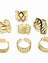 (1шт) Мода Женщины Золотое кольцо сплава (Золотой)