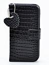 Joyland Black Loving Heart Pendant Leather Case for iPhone 5