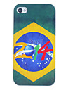 2014 Brazilian Football Pattern Hard Case for iPhone 4/4S