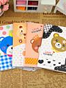 Série dos desenhos animados urso pequeno notebook (cor aleatória)