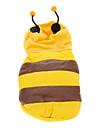 Симпатичный костюм пчелы теплого хлопка-ватник с капюшоном Собаки Животные (разные размеры)
