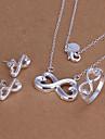 símbolos infinitos conjunto de jóias de prata