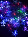20-LED 4М Водонепроницаемый Подключите ЕС Открытый Рождественский праздник цветочное оформление RGB света шнура СИД (220)