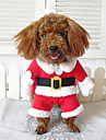 Собаки Костюмы / Плащи / Банданы и шляпы / Инвентарь Красный Зима Косплей / Рождество / Хэллоуин