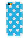 Ordinaire Conçu ronde motif de points TPU pour iPhone 5C (couleurs assorties)