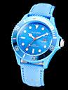 Intimes Unisexe Fonction Calendrier cadran rond PU bande de montre bracelet à quartz analogique (couleurs assorties)