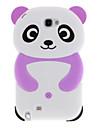 Belle Panda Soft Design Housse de protection en silicone pour Samsung Galaxy Note 2 N7100 (Violet)