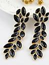 2013 New Coming Elegant Alloy Leaf Shape Fashion Rhinestone Earrings Jewelry
