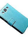 Para Samsung Galaxy Capinhas Carteira / Porta-Cartão / Com Suporte / Flip / Magnética Capinha Corpo Inteiro Capinha Cor Única Couro PU