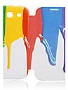 Для Кейс для  Samsung Galaxy Чехлы панели Флип С узором Чехол Кейс для Градиент цвета Искусственная кожа для Samsung S3
