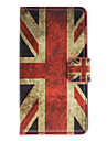 England Flag Pattern Full Body Case with Card Slot for Sony L36h (Xperia Z)