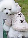 Dog Coat / Hoodie Beige Dog Clothes Winter Classic