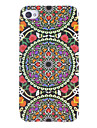 Triple Flora Circles Pattern Hard Case for iPhone 4/4S
