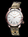 Женщин год сбора винограда Diamante Циферблат стиль ткань PU Группа Кварцевые аналоговые наручные часы (разных цветов)