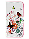 Beatiful Butterflies Pattern Full Body Case with Card Slot for HTC 601e(One Mini)/M4(White)