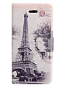 Colored Drawing Forest Tower Leather Full Body Case for iPhone 5/5S