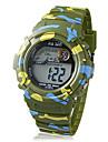 Infantil Relógio Esportivo Quartz LCD Borracha Banda camuflagem Verde marca-