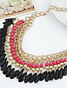 Women's Choker Necklaces Alloy Drop Fashion Bohemian Black Orange Rose Green Jewelry Wedding Party 1pc