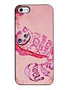 Enchanting Rose Cat Padrão PC Hard Case com moldura preta para iPhone 5/5S