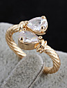 Gold plated bronze zircon Ring J1106