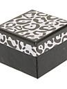 Zebra Square-Pattern Boîte de bague de papier