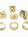 (1Pc)Fashion Women Golden Alloy Ring(Golden)
