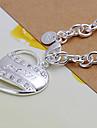 bracelets de cuivre argenté de la mode grande cordée 20cm femmes