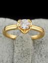 (1 peças) Anéis Zircon transparentes Femininos clássicos (# 5, # 6, # 7, # 8 ½)