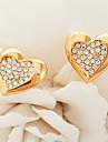Brincos Curtos Strass Chapeado Dourado Dourado Prata Jóias Para Casamento Festa Diário Casual Esportes