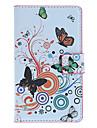 노키아 Lumia를 925 (흰색)을위한 카드 구멍을 가진 아름다운 나비 패턴 전신 케이스