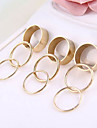 Smooth Textured Metal Mash Prime Ring Ring Set 9 A Group Of Fashion Ring R767