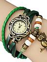 Женские кварцевые часы-браслет в винтажном стиле с подвеской в виде совы на ремешке из искусственной кожи. Цвета в ассортименте