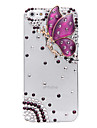 Кейс для iPhone 5/5S с бабочкой и стразами на задней панели