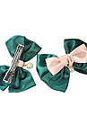 (1 Pc)Sweet Green Pearl Hair Ties FOR Kid's(Green)