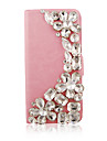 Flower Crystal Leather Full Body Case for iPhone 5/5S(Assorted Color)