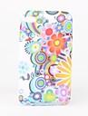 flores coloridas padrão em TPU para iPod touch 4 (multi-cores)