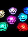 Разноцветные ночники в форме розы с подсветкой