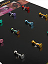 유니섹스 여러 가지 빛깔의 배꼽 & 벨 버튼 링 1.2 * 0.3 * 0.2 (패키지 당 16 PCS)