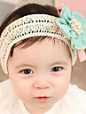 Sweet Beige Fabric Headbands For Kid'S(Blue,Pink,Light Pink)(1 Pc)