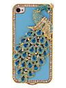 павлин с голубой бриллиант и кристально покрыты случай для IPhone 7 7 плюс 6с 6 плюс 5 секунд как таковые 5с 5 4s 4