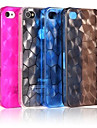 TPU Water Cube Design Transparent Back Case for iPhone 4/4S(Assorted Color)