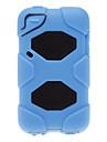 Solid Color 2-в-1 Дизайн Силиконовые Мягкий корпус с черным Твердый переплет Внутри для Ipod Touch 4 (разных цветов)
