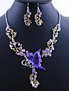 Femme Set de Bijoux Boucles d'oreille goutte Pendentif de collier Européen Vintage bijoux de fantaisie Alliage Papillon Colliers